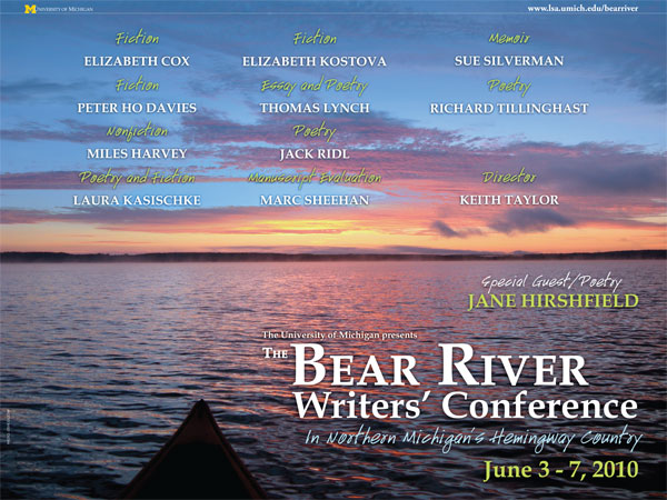 Bear River Writers' Conference Full Brochure/Poster, Front 18 X 24
