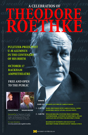 A Celebration of Theodore Roethke, 12 X 18