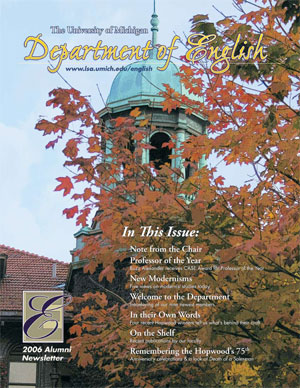 U-M English Alumni Newsletter 2006-07, Cover