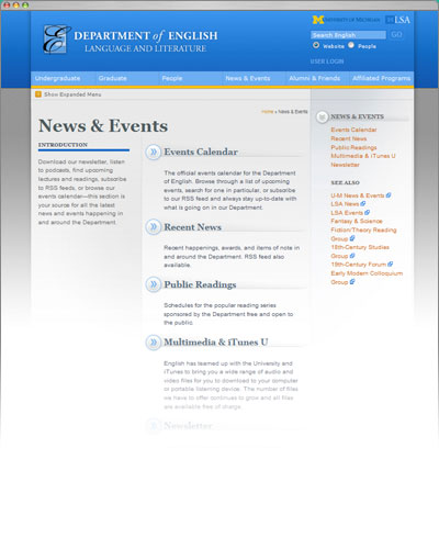 U-M Department of English, V.3, News & Events