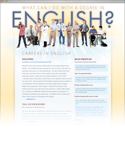 U-M English Alumni Career Profiles, Home